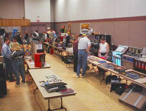 Vendors at the Toronto Pinball and Gameroom Exhibition